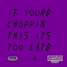 """New Mixtape: OG Ron C 'If You're Choppin This It's Too Late'- http://getmybuzzup.com/wp-content/uploads/2015/04/446642-thumb.jpg- http://getmybuzzup.com/og-ron-c-if-youre-choppin-this/- By Mikey Fresh Houston OG Ron C and DJ Candlestick gave Drizzy Drake's If You're Reading This It's Too Late the chopped treatment. This version also contains the CDQ version of """"My Side."""" — which will also be released on the mixtape's physical version (Apr"""