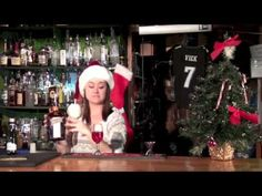 Charity shows us how to make a Poinsettia Champagne Cocktail with style!  www.bartendingschool4free.com