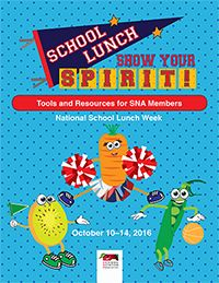 October 10-14 is National School Lunch Week. The School Nutrition Association published a National School Lunch Week Toolkit, available here!