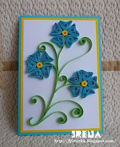 card with quilling elements