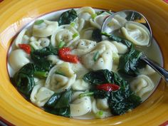 Tortellini Spinach Soup Recipe from Tia Maria's Blog