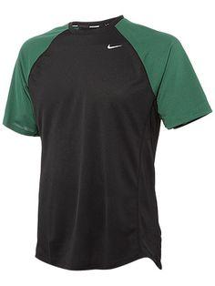 Nike Men's Miler UV SS Fall 2012. Volt or Black/Gorge Green L