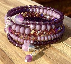 Lovely In Lilac Multi Strand Memory Wire by McHughCreations