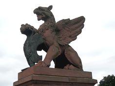 Griffin sculpture at Moltke bridge in Berlin