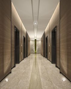 Are you planning to design your hallway? Here are some narrow hallway designs for you to look your entrance more beautiful. Hall Hotel, Hotel Hallway, Hotel Corridor, Hotel Lobby Design, Elevator Lobby Design, Flur Design, Plafond Design, Hall Design, Lobby Interior