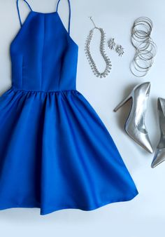 Customized Cute Prom Dresses Short Flat-Out Blue Backless Short Prom Dress,Spaghetti Straps Homecoming Dresses Pretty Dresses, Beautiful Dresses, Royal Blue Homecoming Dresses, Homecoming Outfits, Homecoming Dance, Mode Inspiration, Mode Style, Short Dresses, Prom Dresses