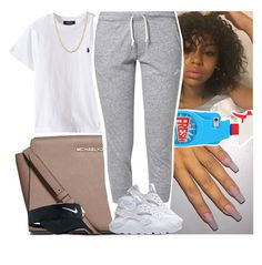 """"""""""" by msixo ❤ liked on Polyvore featuring MICHAEL Michael Kors, NIKE, Moschino and Lord & Taylor"""