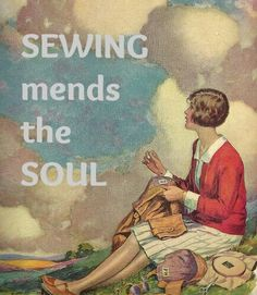 Maggie Gee Needlework Studio* / neat picture for a sewing room wall...