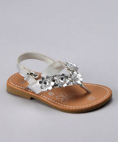 da619d943a4344 Laura Ashley Silver Flower Jewel Sandal