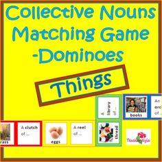 Collective Nouns Matching Game - Things $3.00