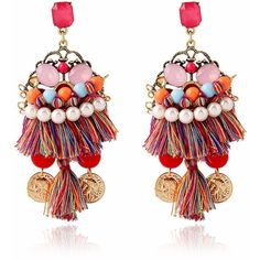 Bohemian Alloy Crystal Tassel Earrings ($424,939) ❤ liked on Polyvore featuring jewelry, earrings, crystal stone jewelry, boho chic jewelry, crystal earrings, boho jewelry and bohemian jewellery