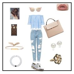 """Untitled #49"" by crinutacrinuta on Polyvore featuring Topshop, Stuart Weitzman, MANGO, Chloé, Fendi, AK Anne Klein, Lokai and Vintage"
