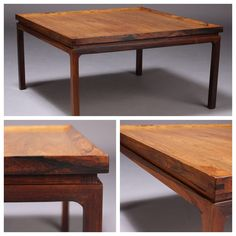 Brazilian rosewood coffee table. Denmark. 1960
