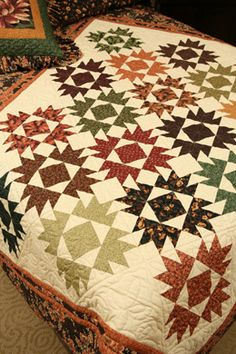 Union Square quilt kit. Pattern in Autumn Sunset book by Thimbleberries.