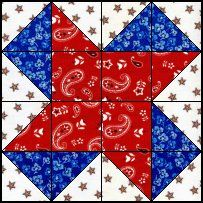 Quilts To Be Stitched - Four patch quilt patterns - Fourth of July!