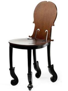 Violin chair - love this.