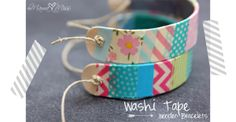 diy: Washi Tape Wooden Bracelets - cute and easy activity day craft. could easily change the theme by changing the which washi tape you use Cute Crafts, Craft Stick Crafts, Craft Gifts, Crafts To Make, Crafts For Kids, Arts And Crafts, Craft Sticks, Craft Ideas, Diy Crafts