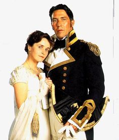 Anne Elliot and Captain Wentworth from the 1995 version of PERSUASION ~ starring Ciaran Hinds and Amanda Root