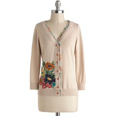 Nick & Mo Bookshop Bouquet Cardigan ($75) ❤ liked on Polyvore