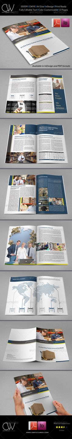 Company Brochure Template Vol9 - 12 Pages Brochure template - company brochure templates