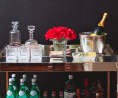 Have I told you lately that I am obsessed with finding the perfect bar cart?