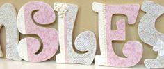 Custom Nursery Letters Baby Name Girl Nursery by TheRuggedPearl, $19.00