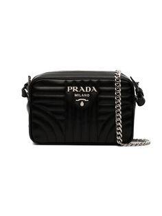 5d38e7cbb378a Prada Black Diagramme Leather Cross Body Bag - Farfetch