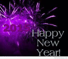 2015 Happy New Year purple background
