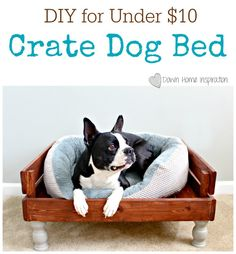 DIY Crate Dog Bed for Under $10