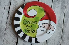 Make a memory your family will always remember. How fun to pull out the special Santa plate every holiday season. Not only will your family enjoy