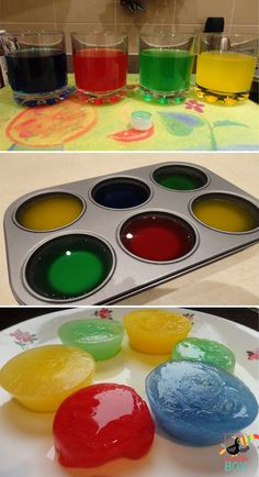 Coloured ice cubes for colour mixing : perfect activities to educate kiddos about primary and secondary colours