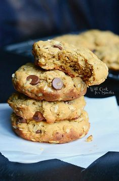These soft and chewy oatmeal cookies are made with creamy peanut butter and chocolate chips!