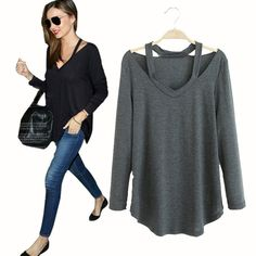 Clemonte Street Style Cut Out Maternity Long Sleeve Top