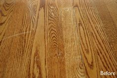 Easy fix for scratches on your hardwood floors
