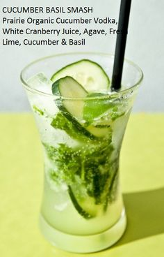 Cucumber Basil Smash. DELICIOUS. Seasons 52 recipe.