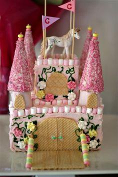 Chelsea's Unicorn castle cake
