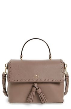 kate spade new york kate spade new york james street - sparrow leather satchel available at Leather Satchel, Pebbled Leather, Kate Spade New York, Kate Spade Purse, Bag Accessories, Shopping Bag, Purses And Bags, Shoulder Bag, Street