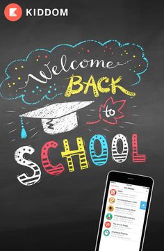 Going Back to School with Kiddom! Everything you need for teaching, all in one p. - Created by Ads Bulk Editor - Back To School Party, 1st Day Of School, Beginning Of School, Teacher Bulletin Boards, Back To School Bulletin Boards, School Decorations, School Themes, School Murals, Art School