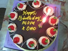 birthday cake for mom and dad