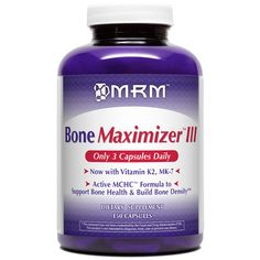 MRM, Bone Maximizer III  BoneMaximizer III offers a superior source of calcium and related bone-building compounds for those who wish to support bone health throughout the life cycle. Clinical studies have shown that Microcyrstalline Hydroxyapatite Concentrate (MCHC) is superior to calcium carbonate in supporting bone health. Active MCHC is derived solely from free-range, grass-fed cattle and provides whole bone proteins, ...