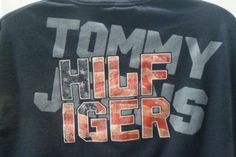 Vintage-Tommy-Hilfiger-Jeans-Block-Spellout-T-Shirt-Men-039-s-XL-Navy-Blue-90-039-s