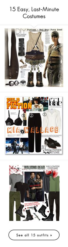 """""""15 Easy, Last-Minute Costumes"""" by polyvore-editorial ❤ liked on Polyvore featuring Halloween, waystowear, diycostume, River Island, J.Crew, Dr. Martens, Rick Owens, Topshop, DIYHalloween and Wallace"""