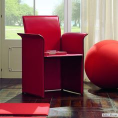 Galatea: Poltrona Ufficio Casa in Cuoio Versione Ruote di Quia | LD Arredamento