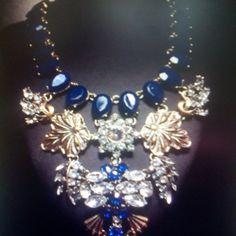 Luxury Dark Blue Crystal Necklace