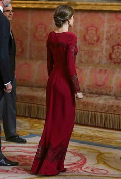 King Felipe and Queen Letizia received foreign ambassadors at the Royal Palace in Madrid - The Queen in Felipe Varela