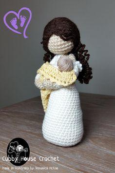 Crochet Pattern. Nursing Mother. Mother Nursing her Newborn EVE and JAMIE