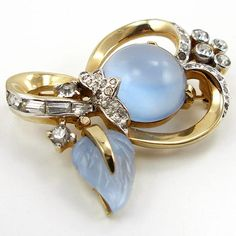 Vintage Mazer Faux Moonstone Pin from luckyladyvintage on Ruby Lane