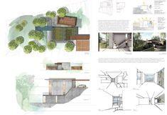 Casas en pendiente: 17 ejemplos de cómo adaptarse a un terreno inclinado - AboutHaus Houses On Slopes, Floor Plans, Style, Home Architecture, Minimalist Home, Log Cabin Houses, Home Plans, How To Build, Precast Concrete