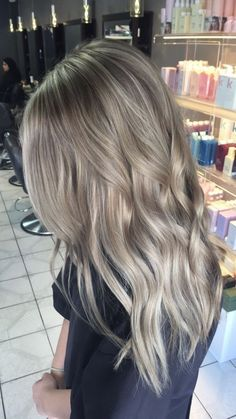 Pretty Hair Color for Long Hair - Ash Blonde                                                                                                                                                                                 More