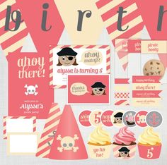 pirate+party+for+girls | DIY Girls Pirate Party Invitation and Decoration ... | birthday party